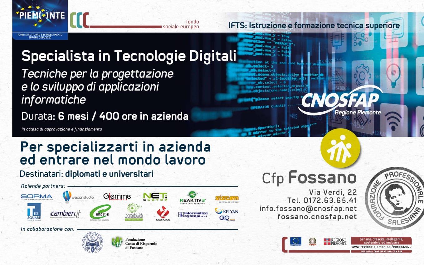 Corso IFTS Specialista Tecnologie Digitali